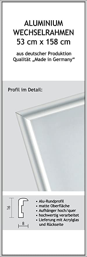 Marco para Póster de Jumbo - tamaño 53 x 158 cm, aluminio ...