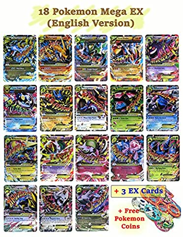 Set of 18 Mega EX Cards 2 X Charizard Rayquaza Gengar...etc