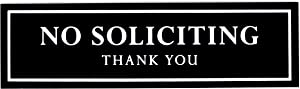 Kubik Letters No Soliciting Sign for House Black - Modern Design Door Sign 3 mm (120 mil) Thick Acrylic Size 2.35