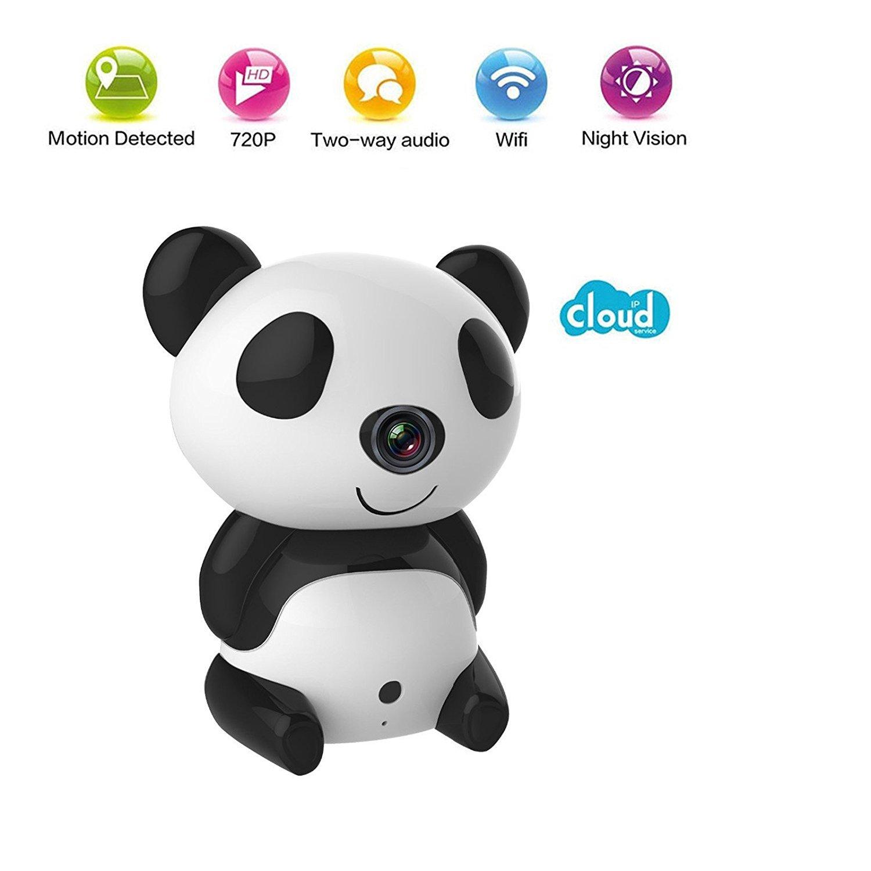 Cute Panda Wireless Security CCTV IP Camera Night Vision Baby Monitor Webcam Nanny Camera