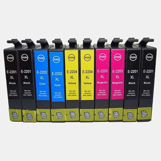 OGUAN 10PK EPSON T220 220 Cartuchos de tinta compatible 10 Pk T220 ...