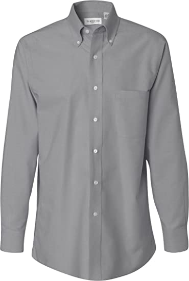637922967c Van Heusen Men s Long Sleeve Wrinkle-Resistant Oxford Button Down Dress  Shirt VH56800 grey Large at Amazon Men s Clothing store  Other Products