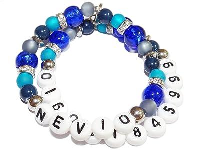 achat original moins cher coût modéré ARTEM Los® Bracelet pour enfants avec nom et numéro de ...