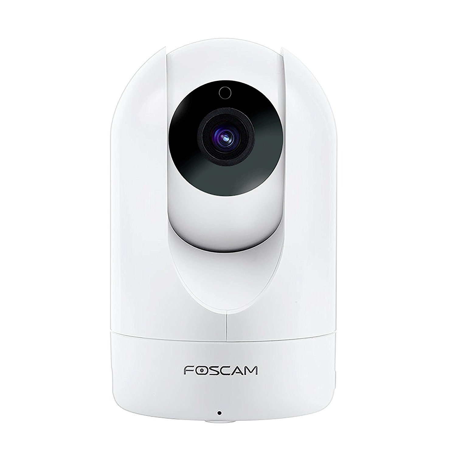 Foscam R2 1080P Pan/Tilt/Zoom SlimSeries WiFi Security Camera - Wide 110° Viewing Angle, Rich Media Push, Enhanced Two-Way Audio, PnP, and More (White)
