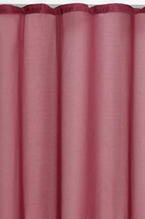 Gardine  Vorhang Höhe 175cm  breite 600cm  Store  transprent Rosa