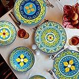Melange 12-Piece 100% Melamine Dinnerware Set