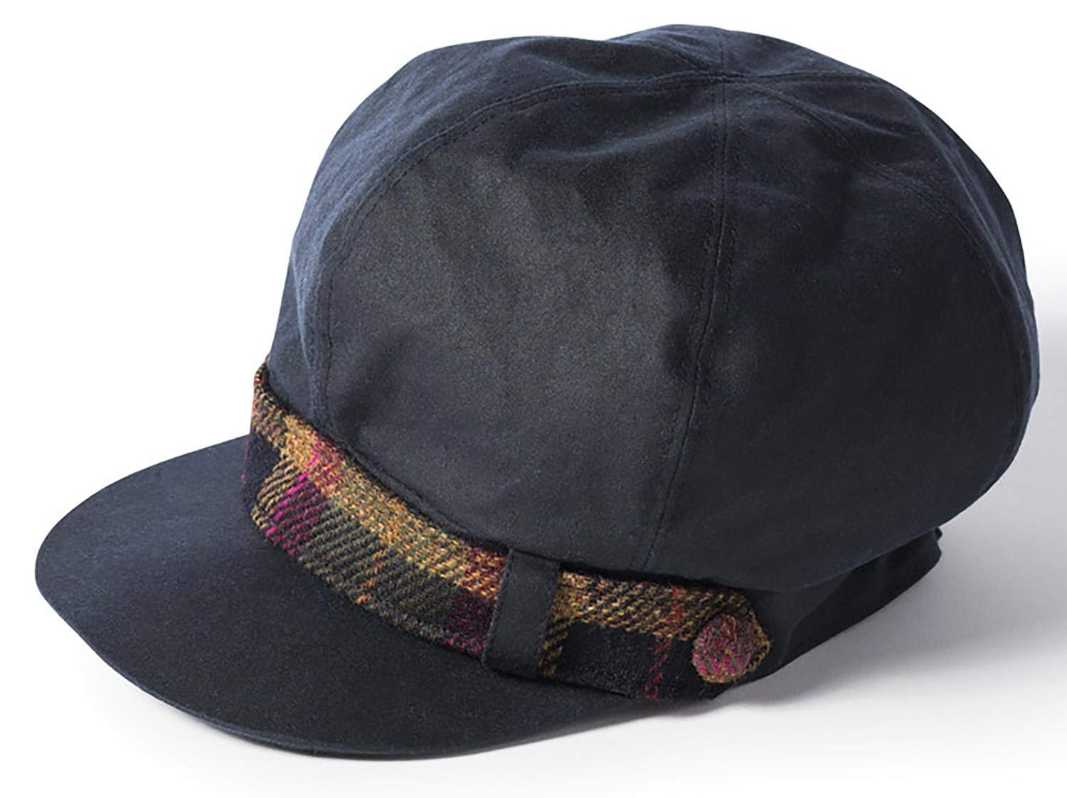 The Hat Shop Failsworth Ladies Waxed Bakerboy Cap - Navy by The Hat Shop