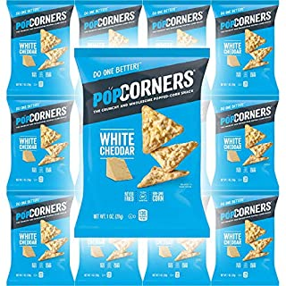 Popcorners White Cheddar Feel Good, Gluten-Free Snack, 1oz Bag (Pack of 12, Total of 12 Oz)