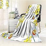 AmaPark Digital Printing Blanket Composition Meditation For Blossoming Summer Quilt Comforter
