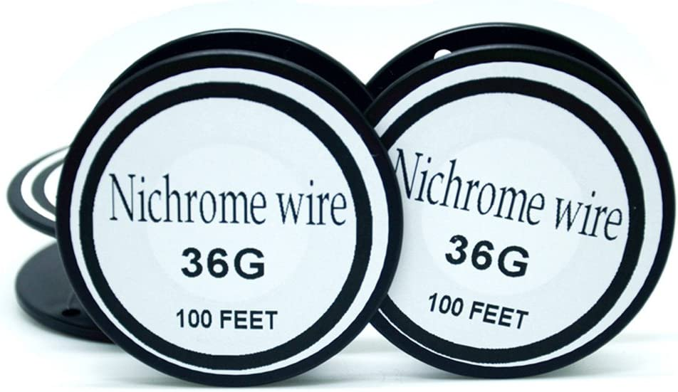 Nichrome wire36g 34g 32g 30g 28g 27g 26g 24g 22g 20g Gauge 100 FT 0.2mm Resistor AWG Resistance (36Gauge/100Feet)