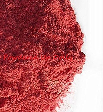 25 G/0,88 oz Pure rojo naranja Mica Mineral polvo DIY Natural ...