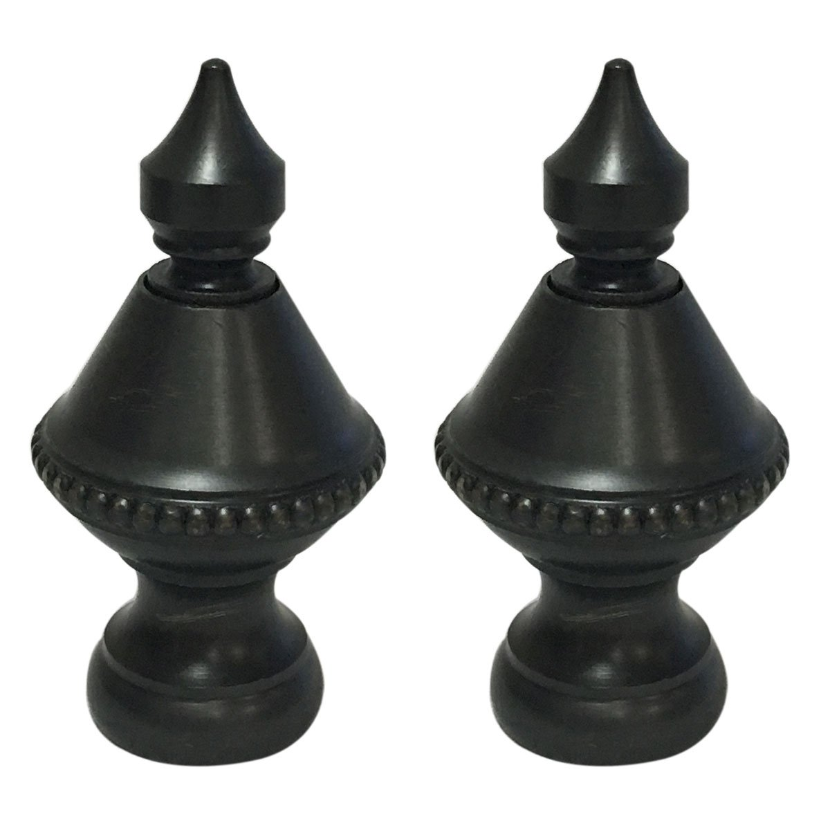 Royal Designs Pointed Urn Lamp Finial for Lamp Shade - Oil Rub Bronze - Set of 2