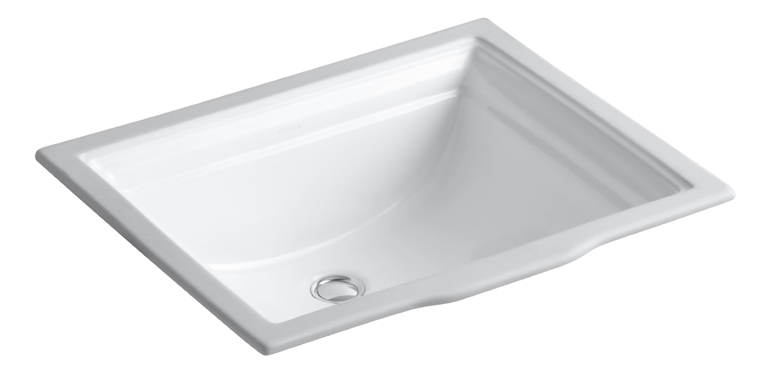 KOHLER K-2339-0 Memoirs Undercounter Bathroom Sink, White by Kohler