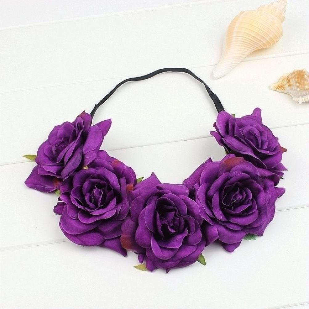 Amazon Yoyorule Floral Rose Flower Headband Party Hair Crown