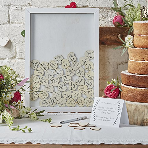 Ginger Ray Drop Top Wooden Frame Alternative Wedding Guest Book-Boho