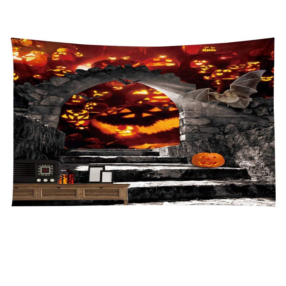 GSJJ Tapisserie Parete Arte Hippie Hallowmas Creativo Materiale in Poliestere 3D Arazzo di Decorazione Terroristica per La Camera da Letto Home Decor, A, 150 * 130CM [Classe di efficienza energetica A]