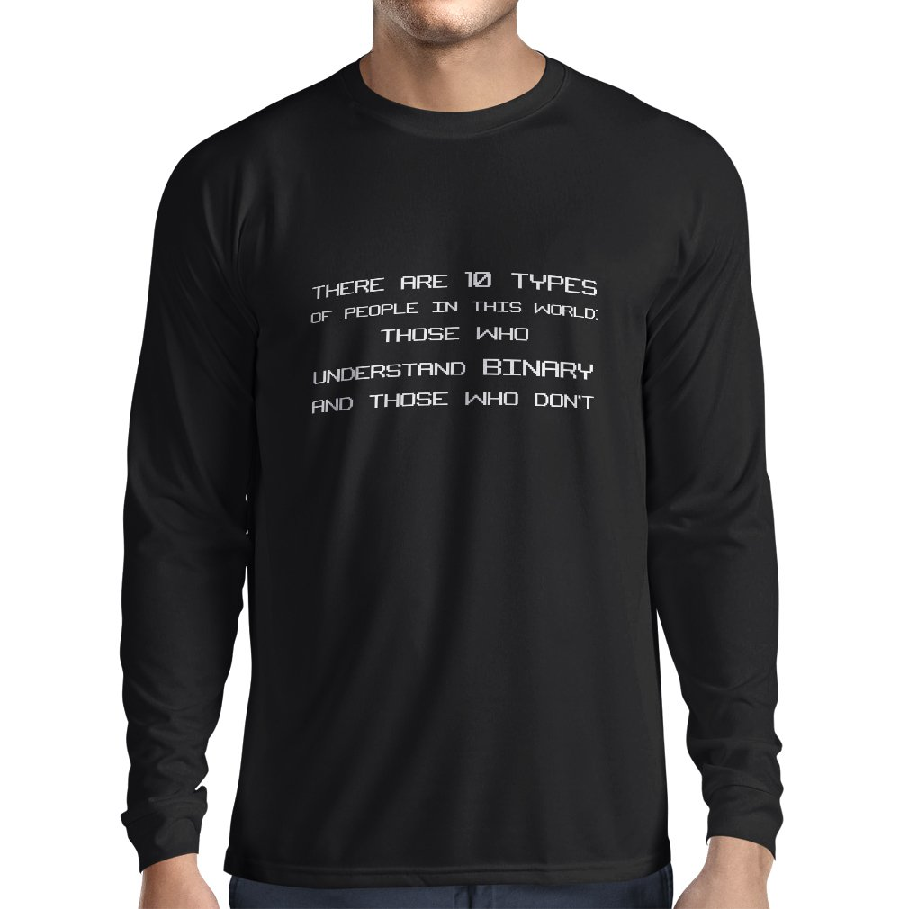 lepni.me Men's T-shirt The Binary Code - Programmer Humor Gift VACOM ADVARTAIZING Ltd