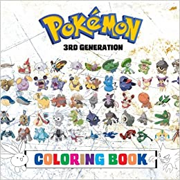 Amazon Com Pokemon Coloring Book 3rd Generation 135 Pages To