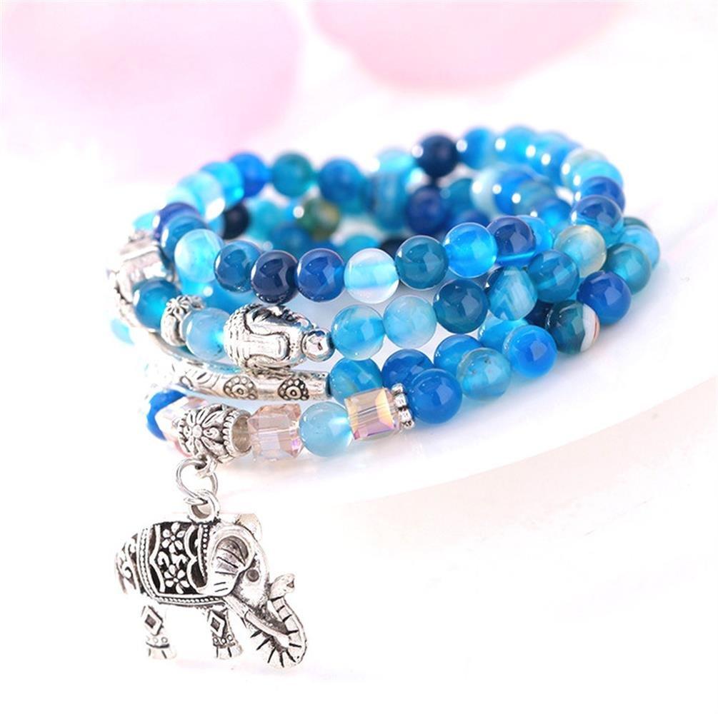 Amazon.com: AMBY Buddhist Prayer Beads • Tibetan Mala Necklace • 6mm ...