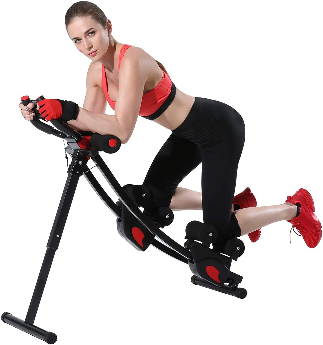 KESHWELL Ab Machine, Core Abs Workout Equipment for Home Gym, Waist Trainer for Women & Men,Height Adjustable Strength Training Abdominal Cruncher, Foldable Core Abs Exercise Trainer.