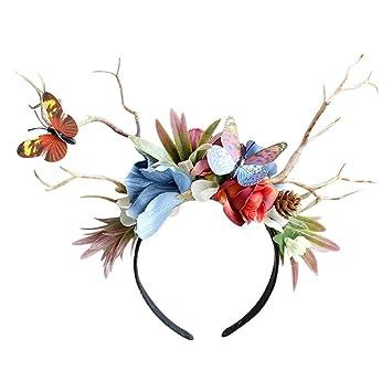 Amazon.com: Sixpi - Diadema unisex con flores de colores ...