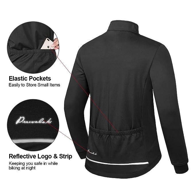 Amazon.com: Przewalski - Chaqueta térmica de ciclismo para ...