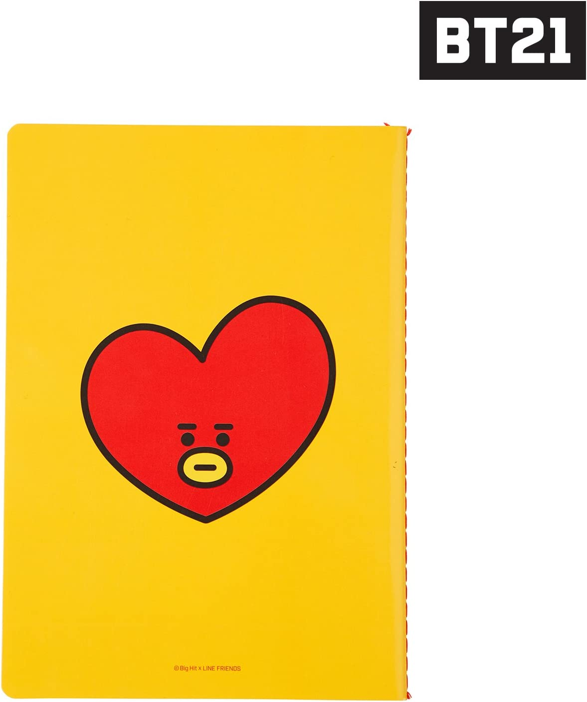 BT21 Tata Note A5 One Size Yellow/_Red/_White