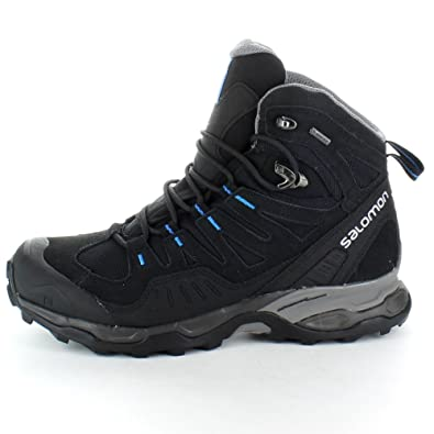 Salomon mens Mens Conquest GTX GoreTex Waterproof Walking Boots Black Black UK Size 9 (EU