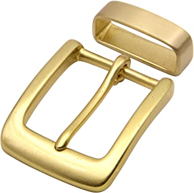 """3//4/"""" Solid Brass Round Style Belt Buckle"""
