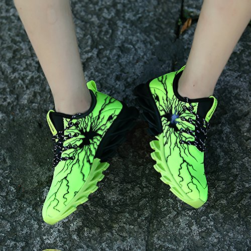 1 Lovers Fashion Sneaker No Lightweight Women's Green Running Shoes Men's lightning 66 Town Casual 4qaPA