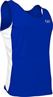 product image for PT-980Y-CB Youth Single Ply Light Weight Dash Singlet-Moisture Management and Odor Prevention Technology-Triathlons, Marathons, Track, and Field Events (Youth Medium, Royal/White/Royal)