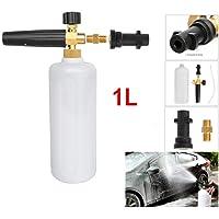 "Professional Foam Cannon 1 Liter Bottle Snow Foam Lance with G1/4"" Inlet Foam Blaster Adjustable High Pressure Snow Foamer for Car Wash"