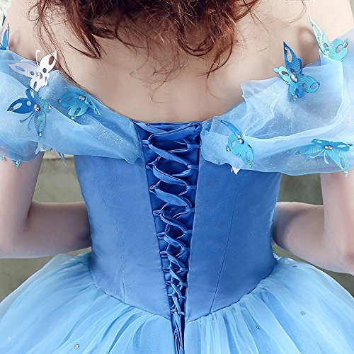 Farfalla Nuziale Da Di Delle Quinceanera Champagne Donne Cerimonia Vestiti Spalla Chupeng Cinderella Fuori Del Da Da Principessa Dell'abito Promenade Sera Costume Di Vestito 7wnRqd