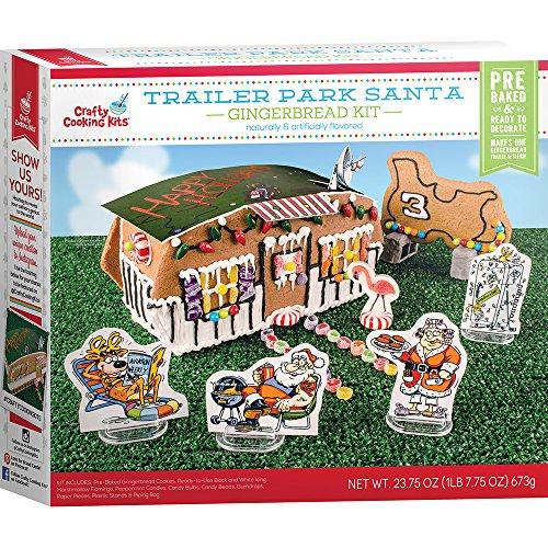 Crafty Cooking Kits Trailer Park Santa Kit, Gingerbread, 23.75 Ounce