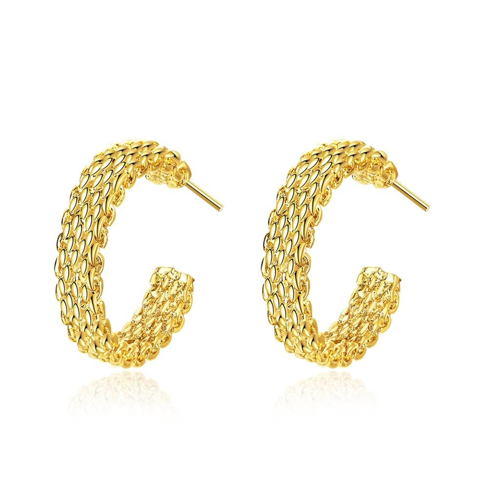 61e081b2d BODYA yellow gold plated 25mm large circle mesh net charm Collection Wide  Hoop Earrings wonen jewelry: Amazon.co.uk: Jewellery