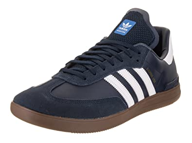 low priced d877b ada77 adidas Mens Samba Adv ConavyFtwwhtGum5 Skate Shoe 10.5 Men US