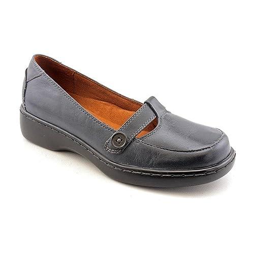Auditions Meter - Mocasines de cuero para mujer azul azul marino 42, color azul, talla 41: Amazon.es: Zapatos y complementos