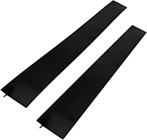 25 inches Silicone Stove Counter Gap Cover (Set of 2) Seals Out Spills Between Counters, Appliances, Dryers, Stoves, Washing Machines and More (black)