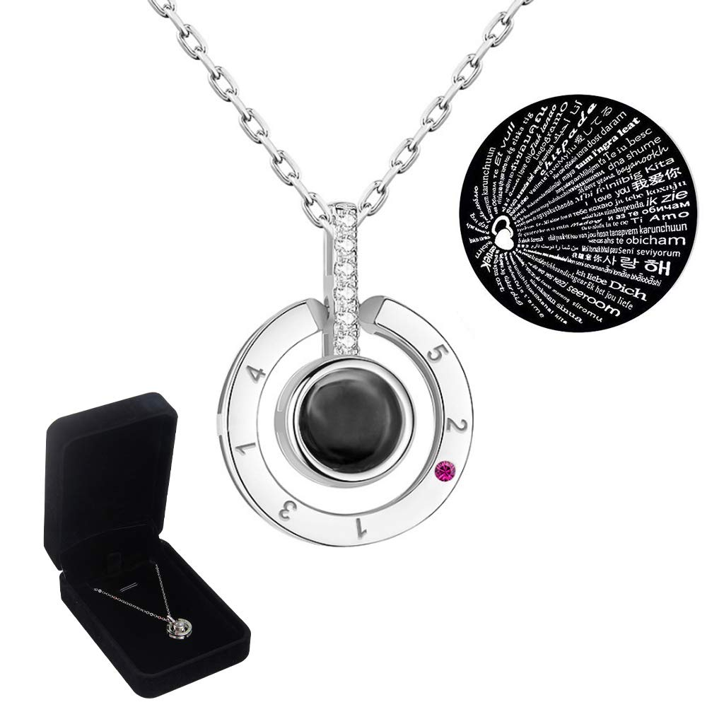 winsbo Love Necklace I Love You Necklace in 100 Languages Best Gift for Her Gift for Women