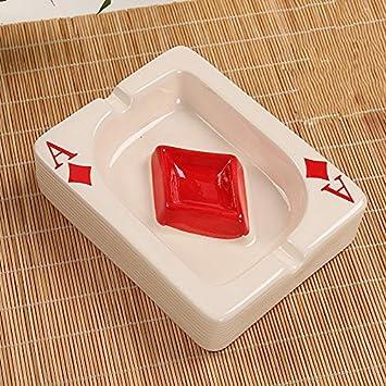 c03e5dc0f Decoration - ashtray NAUY- Cenicero Cerámica Simple Moderna Creativa  Moderna Mini Una Moda De Póquer