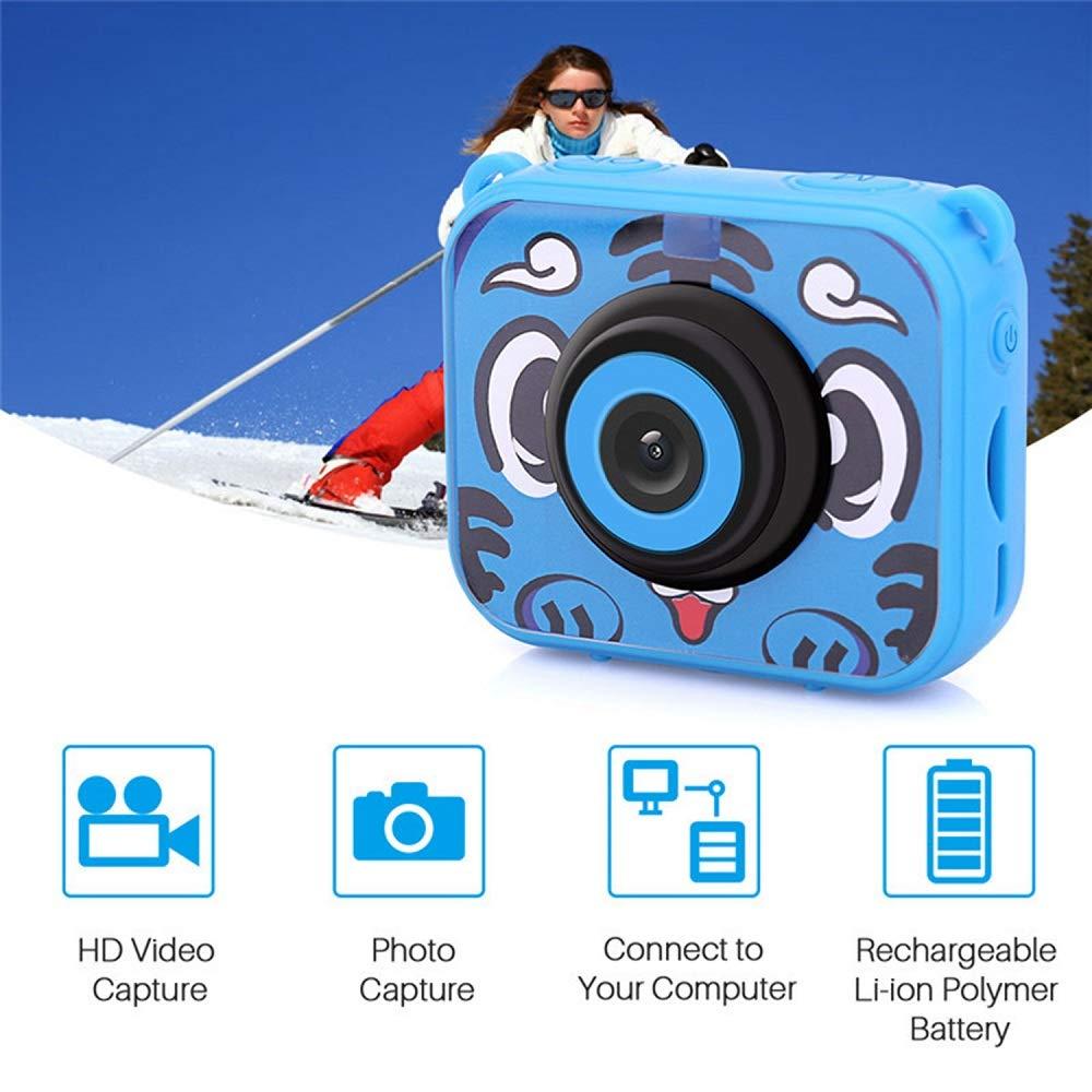 Posiveek Children Kids Camera Waterproof 100FT HD Action Camera 1080P 12MP Sports Camera Camcorder 2 inch LCD Screen (Blue) by POSIVEEK (Image #4)