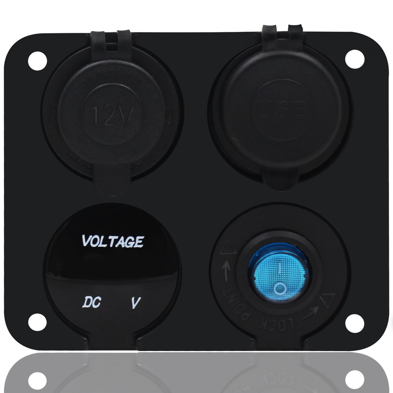 615yoyPgq9L._SL1500_ amazon com fxc toggle switch dual usb socket charger 2 1a & 2 1  at creativeand.co