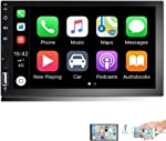 Camecho 7 inch Double Din Car Stereo 1080P HD Touch Screen