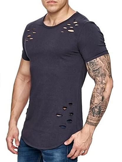 Lylafairy Azul Camiseta, Clásica Cuello Redondo para Hombre, Camisetas Hombre Manga Corta (S