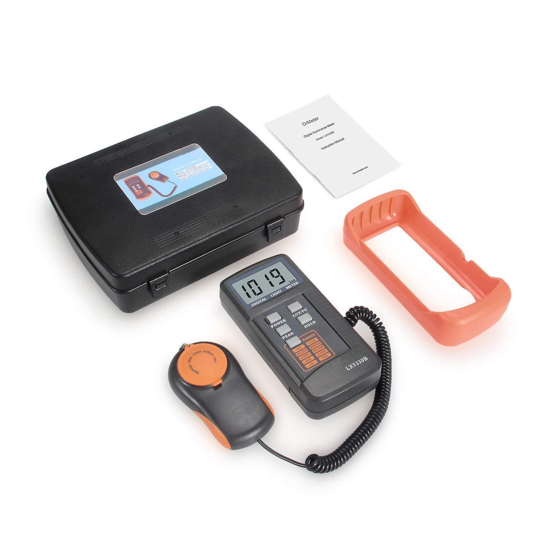 Dr. Meter® LX1330B - Luxómetro digital, 200.000 lux, con gran precisión, reacción rápida y retención de los datos: Amazon.es: Bricolaje y herramientas