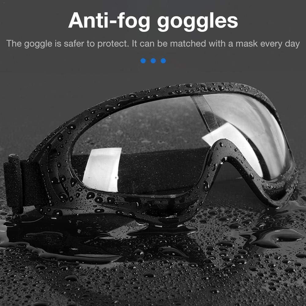 KiGoing Schutzbrille Anti-Fog Anti-Tr/öpfchen Staubdicht Transparente Reithose
