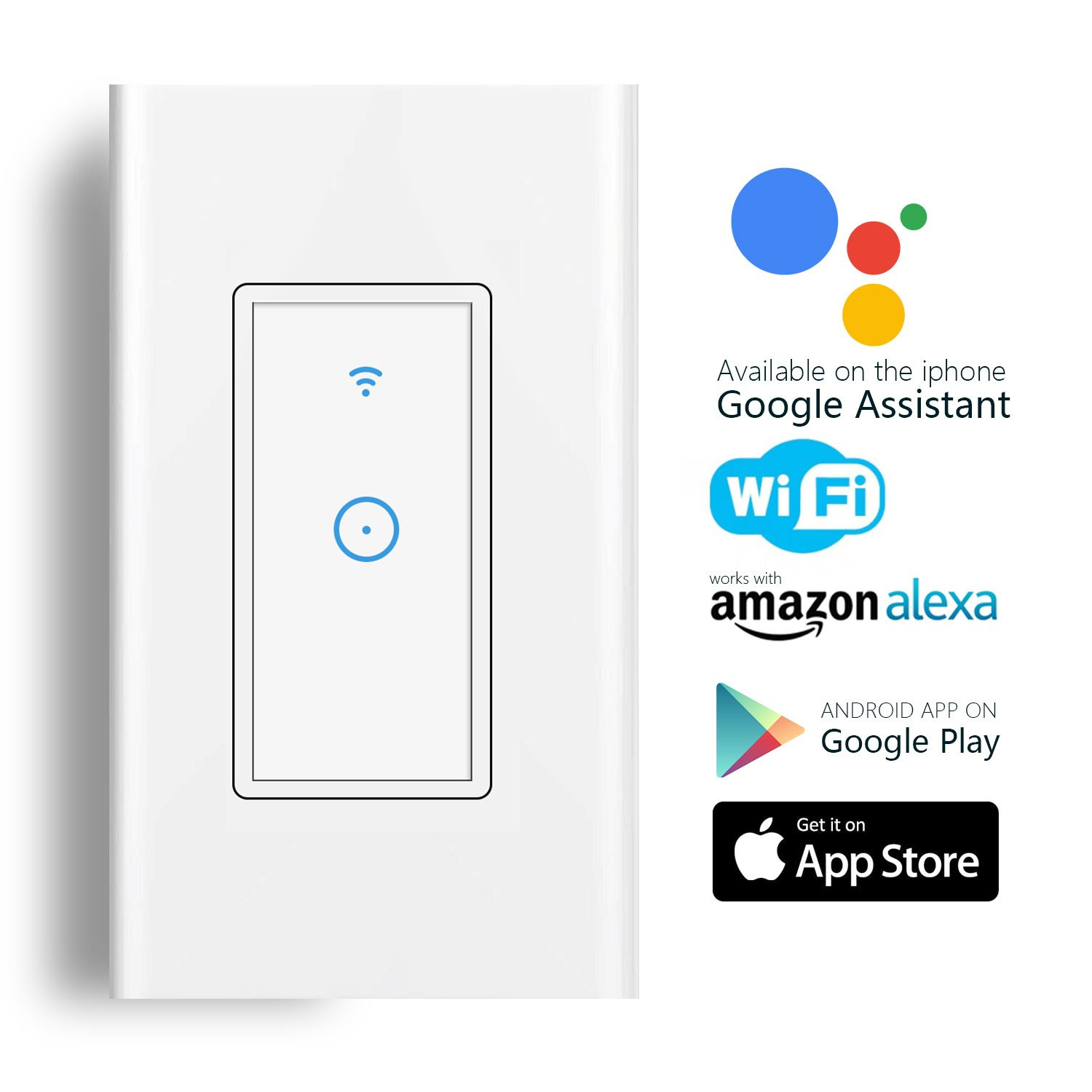 Smart Light Switch Wi Fi In Wall Wireless Compatible Hope These Wiring Diagrams Have Helped You Your 4 With Amazon Alexa Remote Control Fixtures From Anywhere Timing Function