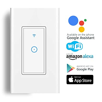 Smart Light Switch, Wi-Fi Switch In-wall Wireless Switch Compatible on electrical wire connections, electrical flow diagram, electrical wiring light switch, electrical wire types,