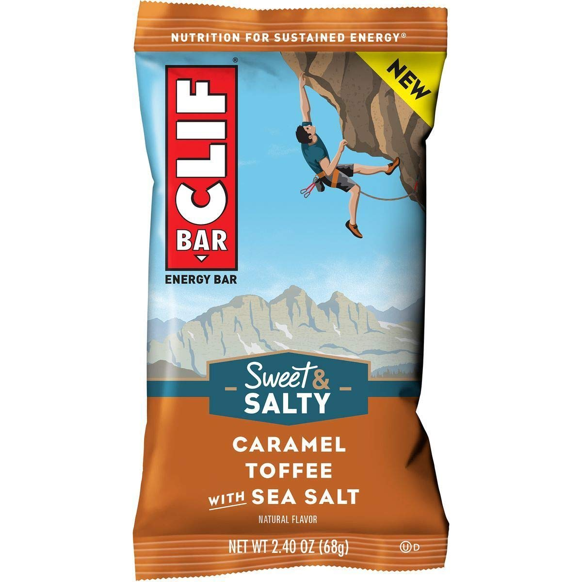 Clifbar Clif Bars - 12 Pack Caramel Toffee w/Sea Salt, One Size by Clif Bar