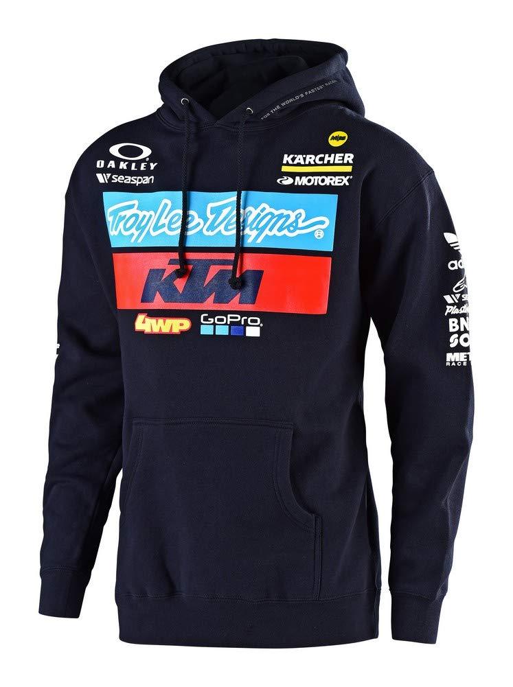 2019 Troy Lee Designs Men's KTM Team Pullover Hoody,2X-Large,Navy
